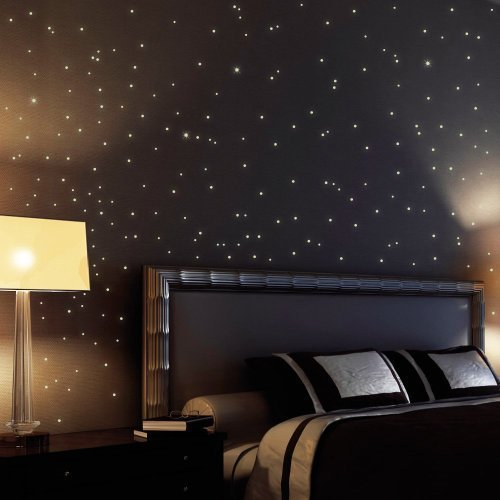 255 fluorescent stars and dots for a starry sky - wall sticker stars and dots shining and glowing in the dark