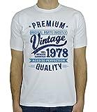 My Generation Gifts 1978 Vintage Year - Aged to Perfection - 40. Geburtstag Geschenk T-Shirt für Herren Weiß Blau L