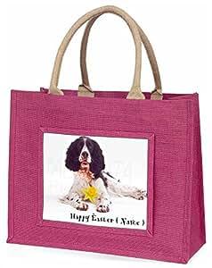 Advanta personalisierbar Springer große Einkaufstasche/Weihnachtsgeschenk, Jute, pink, 42x 34,5x 2cm