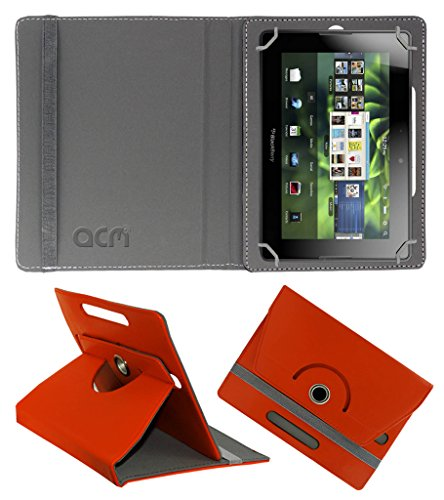 Acm Rotating 360° Leather Flip Case for Blackberry Playbook 4g Cover Stand Orange  available at amazon for Rs.149