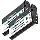 2x Minadax® qualitaets Batterie avec véritable 1800mAh pour Casio Exilim EX-FH100, EX-H15EX H10, EX, EX EX-H20G, comme NP 90–Système de batterie intelligent avec puce