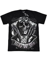 T-Shirt Rock Chang Rock Eagle Heavy Metal Biker Tattoo Rocker Gothic (4001)