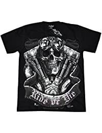 T-Shirt Rock Chang Rock Eagle Heavy Metal Biker Tattoo Rocker Gothic (4001)