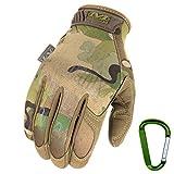 MECHANIX WEAR ORIGINAL Einsatz-Handschuhe, atmungsaktiv & abriebfest + Gear-Karabiner, Original Glove in Schwarz, Coyote, Multicam / Größe S, M, L, XL (M, Multicam)