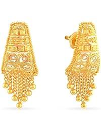 4aa1b4922 Malabar Gold & Diamonds 22KT Yellow Gold Stud Earrings For Women