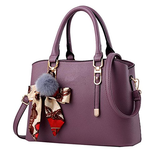 WU Zhi Dame Wilde Große Kapazitäts-Handtaschen-Schulter-Kurier-Beutel Purple