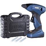 FERM GGM1003 Pistolet à Colle à batterie  avec 6 bâtons de colle/chargeur rapide 60 min 7,2 V/1,5 Ah Li-Ion