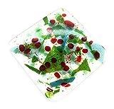 Untersetzer mit Stechpalmenbeeren, aus Glas, Weihnachtsmotiv, inkl. Geschenkpapier, handgefertigt in East Sussex – perfektes Weihnachtsgeschenk, Strumpffüller oder Secret Santa, für Schreibtisch, Nachttisch und Schminktisch