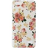 Qiaogle Teléfono Caso - Funda de TPU silicona Carcasa Case Cover para Huawei G Play mini / Huawei Honor 4C (5.0 Pulgadas) - YH25 / Big Rose