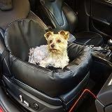 Knuffliger Leder-Look Autositz für Hund, Katze oder Haustier inkl. Gurt und Sitzbefestigung empfohlen für Volvo XC70 Cross Country