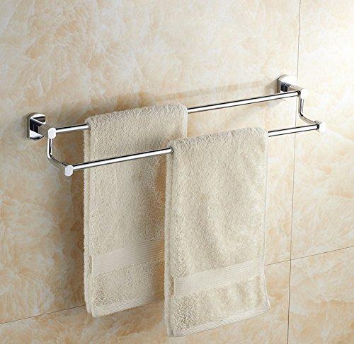 EHTF handtuchhalter bad wand handtuchstange edelstahl badetuchhalter Edelstahl Doppel-Handtuchhalter, 75 CM
