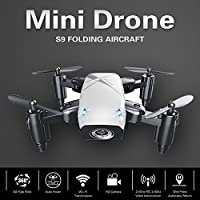 Cewaal Hanbaili S9 Mini Folding Pocket Quadcopter Drone Without Camera,Pressure Set High/3D Tumbling/A Key Return,Drone with Headless Mode for Beginners from Cewaal