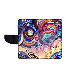 KolorEdge Printed Flip Cover For Lenovo S1 Multicolor - (1478-50KeMLogo10748LenovoS1)