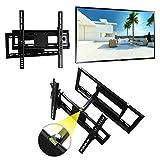 WH01 Universal Wandhalterung TV neigbar -15°/+15° schwenkbar LCD Wandhalter ausziehbar Fernseher Halterung für Curved LED Flachbildschirm 66-165 cm/ 26