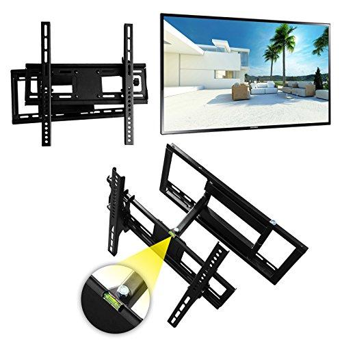 """WH01 Universal Wandhalterung TV neigbar -15°/+15° schwenkbar LCD Wandhalter ausziehbar Fernseher Halterung für Curved LED Flachbildschirm 66-165 cm/ 26""""-65"""" Zoll/VESA 50x50 bis 400x400 / Schwarz"""