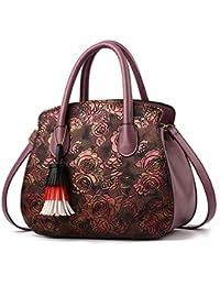 70243ee89e1f1 WERERFG Floral Leder Umhängetaschen Für Frauen Vintage Luxus Handtaschen  Frauen Taschen Designer Leder Messenger Clutch