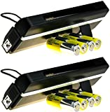 2 x Portable UV Money Checkers With Batteries - Detects Forged Polymer & Paper Bank Notes