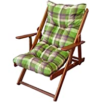 Liberoshopping sillón Tumbona Relax de Manga Corta. H 100cm, Color Militar