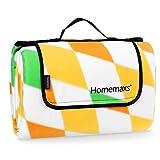 Homemaxs Extra große Picknickdecke 200x200 cm wasserdicht und tragbar Faltbare Outdoor-Decke für Strandwanderungen Reise Camping