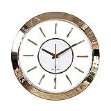 MSF Pendules murales Horloge murale, Horloge à quartz Silencieuse Radio-Commandée, Auto-étalonnage, élégant Simple 16 Pouces Conception Ronde, Couverture En Verre De Cadre En Plastique, Maison Décorat