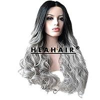 Heahair® resistente al calore testa intera, ombre colore capelli lunghi