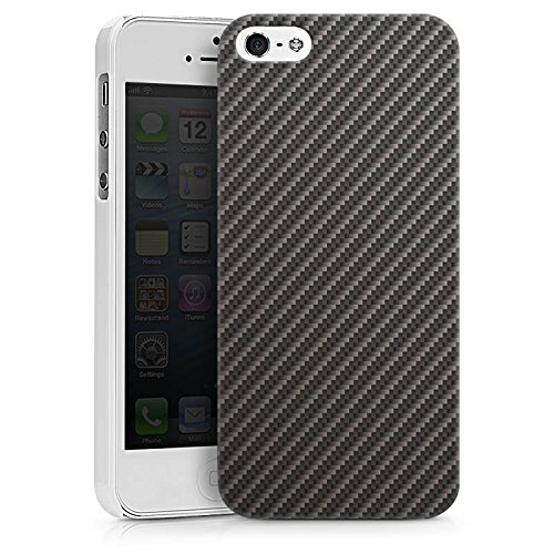 Apple iPhone X Silikon Hülle Case Schutzhülle Carbon Look Schwarz Grau Metall Hard Case weiß