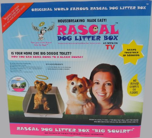 DOG LITTER BOX BIG SQUIRT BY THE RASCAL DOG LITTER BOX COMPANY. AS SEEN ON DRAGON'S DEN ....... 8
