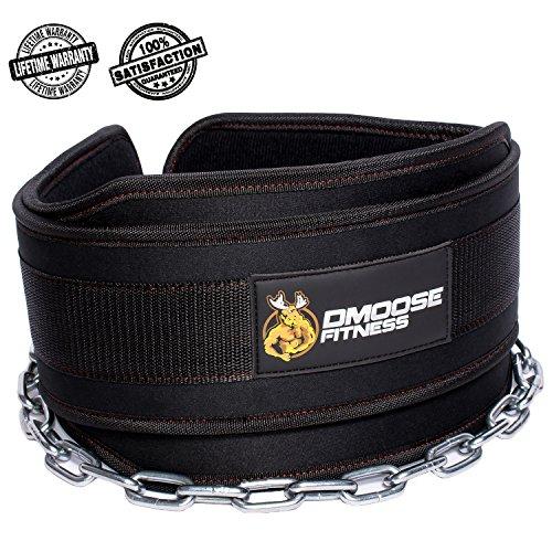Leder-dip (Premium Dip Gürtel mit Kette von DMoose Fitness - 36
