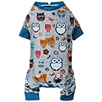 kyeese Small Dog Pajamas Owl Soft Material Stretchable Dog Pajama Pjs for Fall Winter