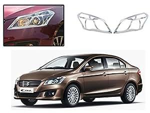 Auto Pearl - Premium Quality Chrome Plated Head Light Cover for - Maruti Suzuki Ciaz