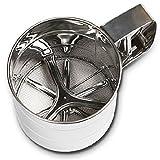 Handheld farina della tazza setaccio in acciaio inox Farina Sieve strumento Bakeware (S)