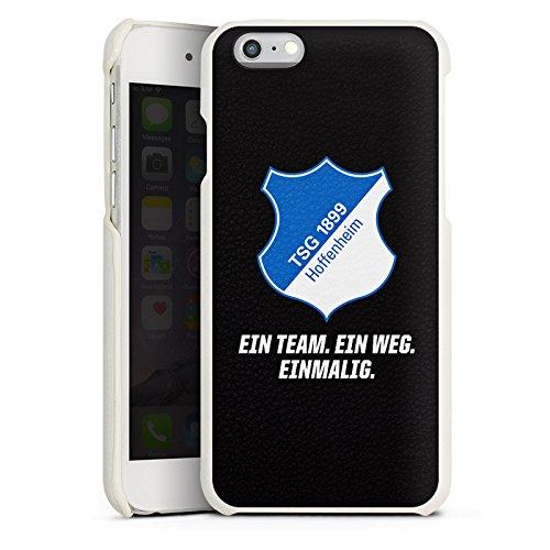 Apple iPhone 7 Lederhülle Leder Case Leder Handyhülle TSG Hoffenheim Fanartikel 1899 Fußball Leder Case weiß