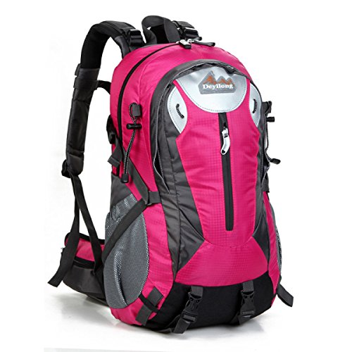 40L Neu Explosion Im Freien Bergsteigen Rucksack Mit Trägt System Wandern Tasche rose