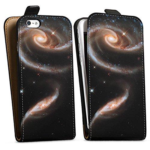 Apple iPhone X Silikon Hülle Case Schutzhülle Galaxy Space Galaxie Downflip Tasche schwarz