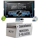 Mercedes E-Klasse W211 - JVC KW-R520E - 2DIN Autoradio Radio - Einbauset