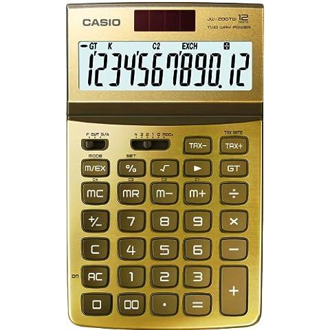 CASIO JW-200TW-GD-S-EH - Calculadora básica, 26.1 x 107 x 178.5 mm, oro