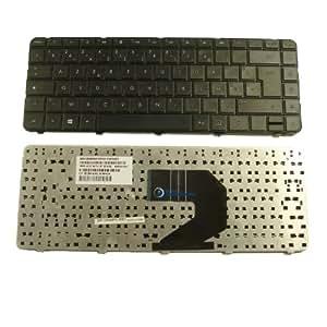 Clavier Français AZERTY pour ordinateur portable HP COMPAQ Presario CQ58 Noir - Visiodirect -