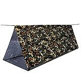 SEALEN Leichtes Backpacking Bivy Zelt, Wasserdichte Digital Woodland Camouflage Survival Zelt, Erste Hilfe Outdoor Survival Kits für Camping Wandern Reisen