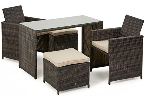 San Diego Dallas Baby Rattan Garden Furniture Brown Balcony Cube Set Garden Rattan Furniture