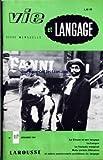 VIE ET LANGAGE [No 117] du 01/12/1961 - LE CIRQUE ET SON LANGAGE PAR JEAN BAUDEZ - SPEAKER REMPLACE PAR ANNONCEUR PAR A BRINCOURT - LA LANGUE PAR A BERNELLE - D'UN ANGLAIS MADE IN FRANCE PAR J C - ENCORE DREVE - A PROPOS DE SLUDGE - APOLOGIE N'EST PAS ELOGE PAR M DUGAURE - MADAME LE DIRECTEUR PAR J COURRENT - COURRIER DES LECTEURS PAR JACQUES CAPELOVICI - UNE GRANDE ENQUETE DE VIE ET LANGAGE - LE FRANCAIS MARGINAL - OISEAUX CHARMANTS LES RIMES - MOREAS PAR MAURICE RAT - UN ANGLICISME PARTITION