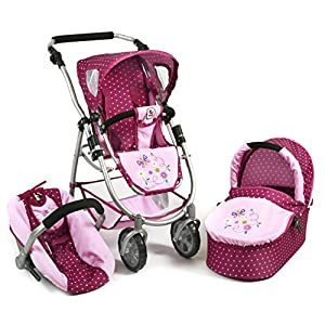Bayer Chic 2000 637 29 – 3 in 1 Combi EMOTION ALL IN, Blackberry, Purple/Pink
