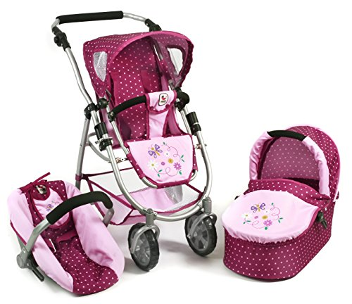 *Bayer Chic 2000 637 29 – 3 in 1 Kombi Emotion All In, Dots Brombeere, lila/rosa*