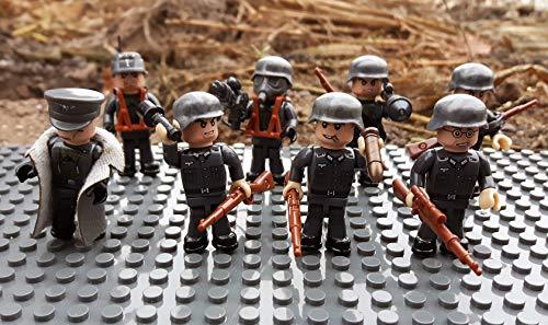 Modbrix 17002 ✠ Wehrmacht Artillerie Schützengraben inkl. 8 custom Minifiguren über 300 Teile ✠ thumbnail