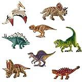 deAO Dinosaurios de Juguete - Figuras Prehistóricas Realistas SET (Mini Set (x8))