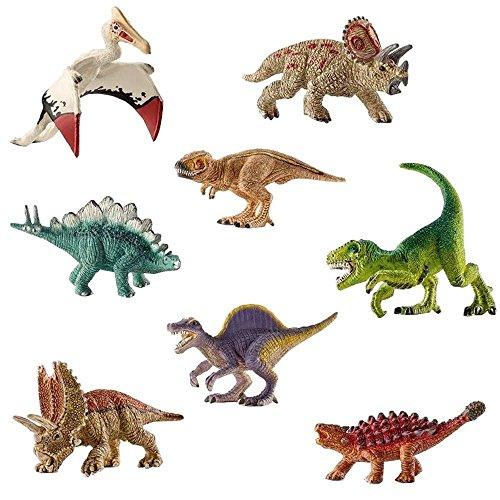 deAO Dinosaurios de Juguete SET de 8 Dinosaurios Diferentes – Diseño Mini