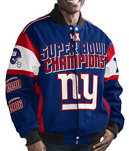 New York Giants NFL G-III Super Bowl Cotton Twill Commemorative Jacket (Bowl Super G-iii)