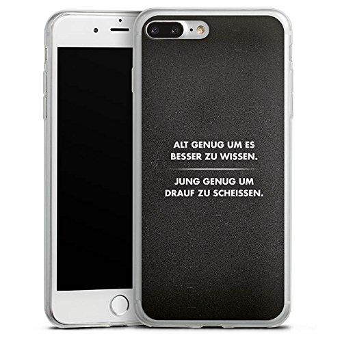 Apple iPhone 8 Slim Case Silikon Hülle Schutzhülle Sprüche Statement Schwarz Silikon Slim Case transparent