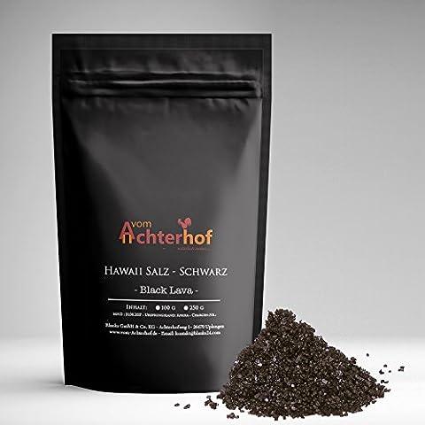 100 g Hawaii Salz schwarz Gourmetsalz natürlich vom-Achterhof (Insel Molokai Hawaii)