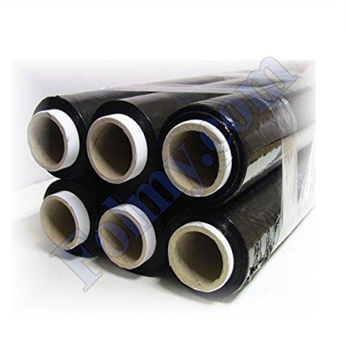 Strechfolie 12 Rollen, 23 My, 450mm x 220 m. Schwarz. Stretchfolie. Palettenfolie. Folie.