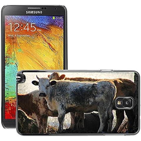 Hello-mobile Hot Style-Custodia rigida per cellulare, a forma di mucca, M00138068 di manzo, vitello fattoria e posteriore per Samsung Galaxy Note 3 III N9000/N9002/N9005